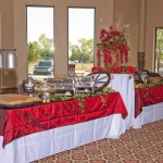 Event venues in OKC fancy food setup