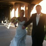 bride and groom at an okc wedding venue