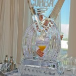 COHBA ice sculpture at an event center in OKC