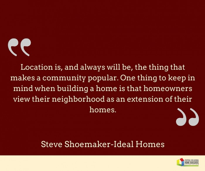 Ideal Homes Steve Shoemaker quote